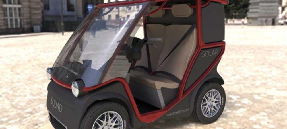 Squad, el mini coche eléctrico impulsado por energía solar