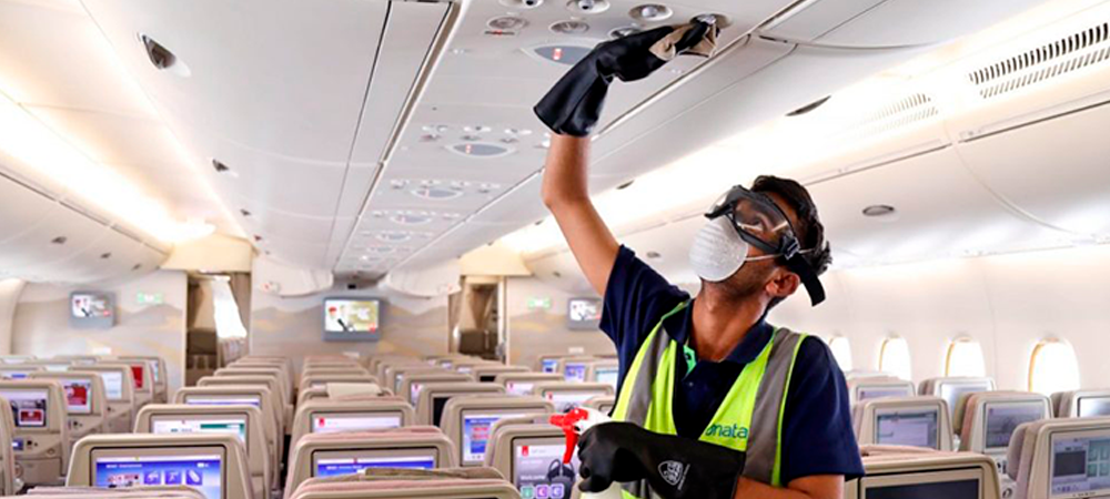 ¿Cómo desinfectar los aviones comerciales en medio de la pandemia?