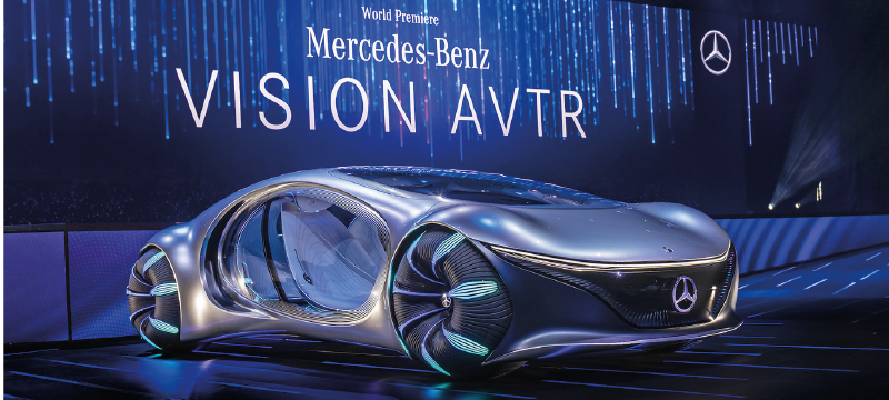Mercedes-Benz muestra su vehículo del futuro que posee visión AVTR