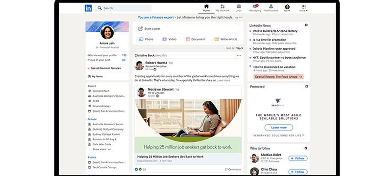 LinkedIn renueva su diseño y añade las 'stories'