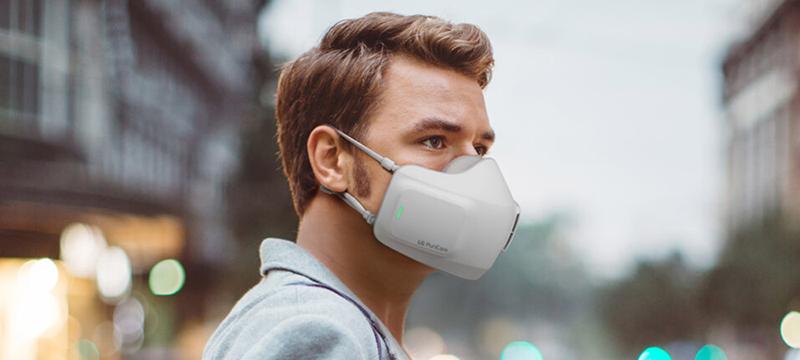LG tiene lista su nueva mascarilla con purificador de aire portátil integrado
